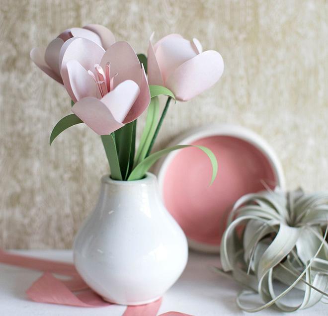 3 cách làm hoa giấy trang trí nhà đẹp xinh yêu - Ảnh 3.