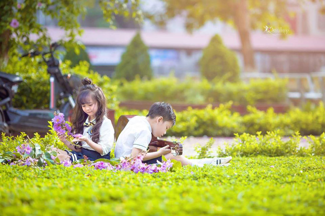 """Sau kỷ yếu mẫu giáo, Hoa khôi nhí Tuyên Quang lại khiến dân mạng sục sôi với bộ ảnh """"Tạm biệt lớp 1"""" - Ảnh 4."""