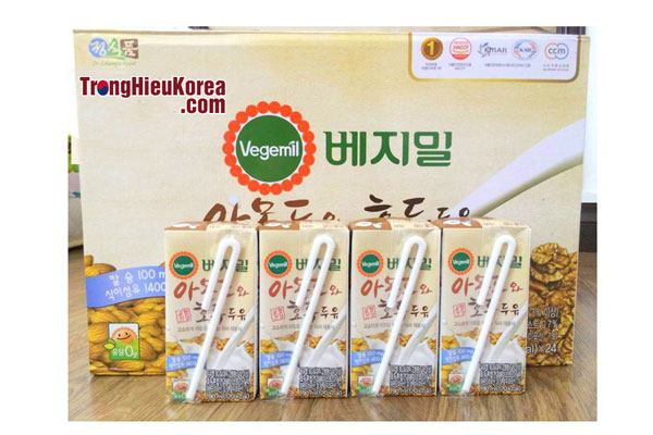 Sữa óc chó Vegemil Hàn Quốc tại Trọng Hiếu Korea