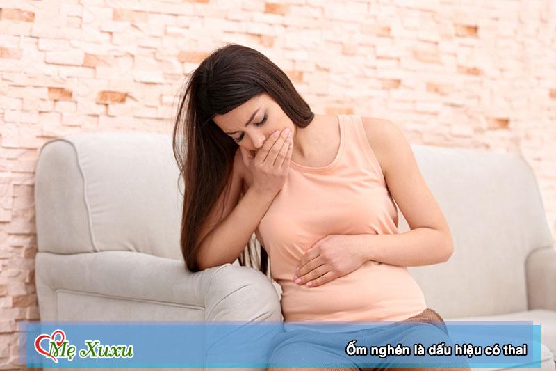 Ốm nghén là dấu hiệu có thai sau 2 tuần